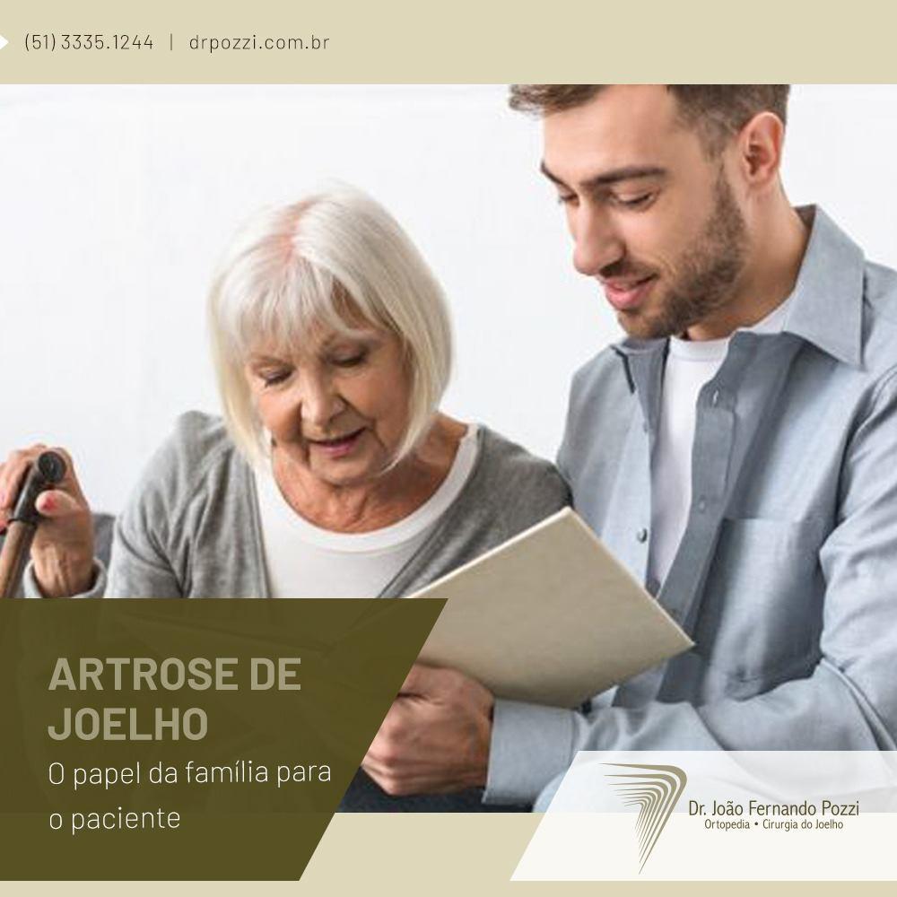 Paciente com artrose e a família